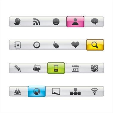 Social Media Menu Navigation