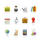 set di icone - educazione