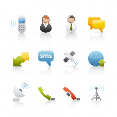 Icon Set - Internet and Communications