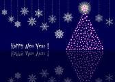 Nový rok pozadí. vektorové 10eps.