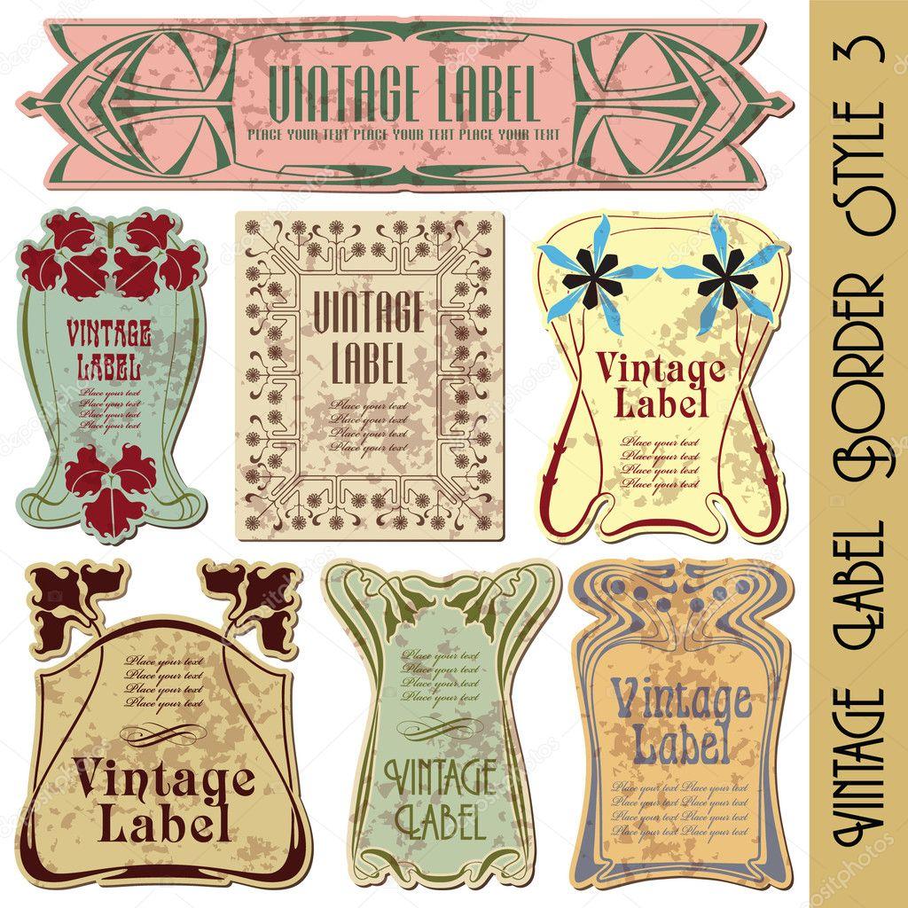 vintage style label vector de stock bomg11 3999587. Black Bedroom Furniture Sets. Home Design Ideas
