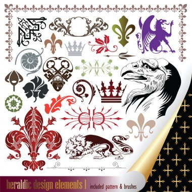 Elements for your heraldic design projects