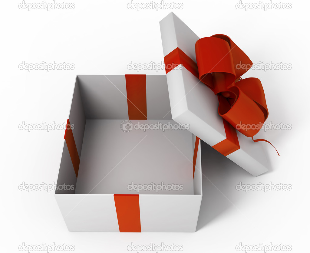 open white gift box stock photo kash76 4405310. Black Bedroom Furniture Sets. Home Design Ideas