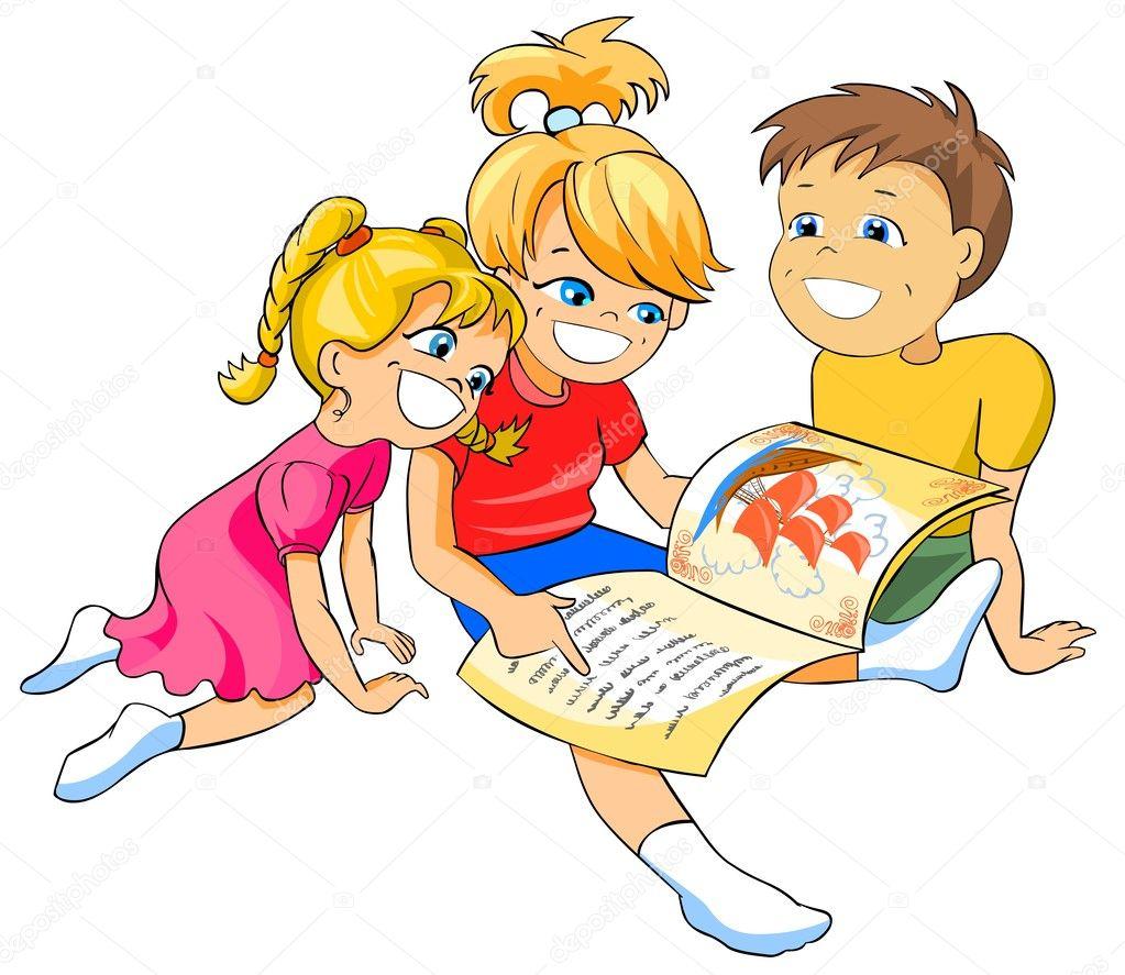 дети читающие книгу стоковое фото Regisser Com 4848676