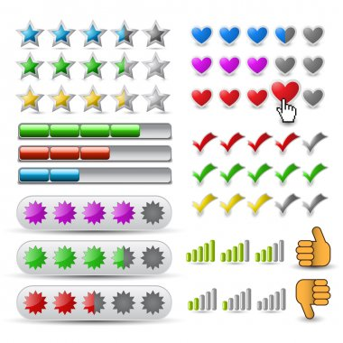 Vector set rating icon