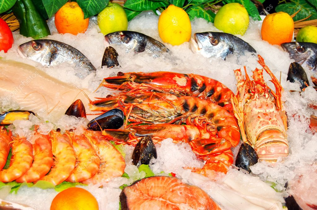 Fresh seafood selection