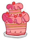 Fotografia torta rosa