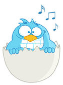 Blue Bird In Egg Speech