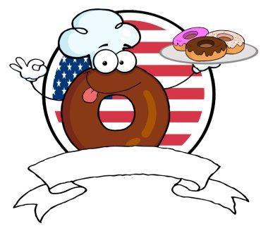 Donut Chef Cartoon Character