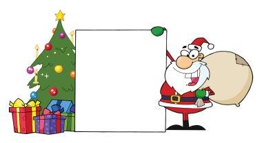 Santa With A Blank Sign