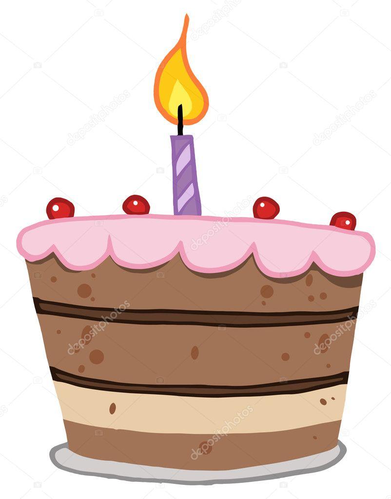 One Shaped Birthday Cake