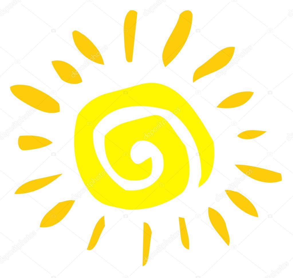 Yellow Spiral Sun