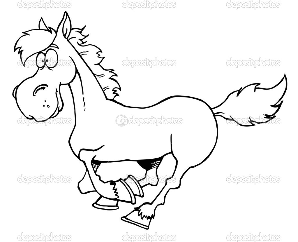 Coloring Sheets Of Horses : Running Horse Coloring Pages. Native ... | 829x1023