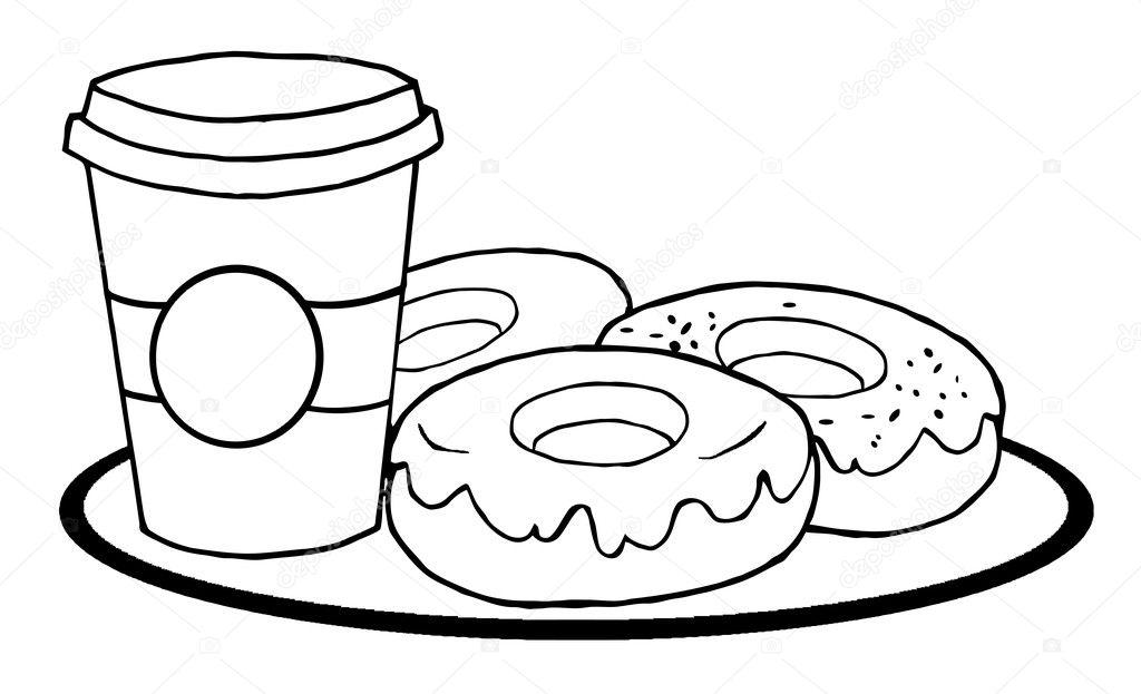Imágenes: una lata de atun para colorear | taza de café contorneado ...