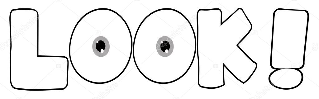 outline cartoon text look stock photo 4727695 - Outline Cartoon Pictures