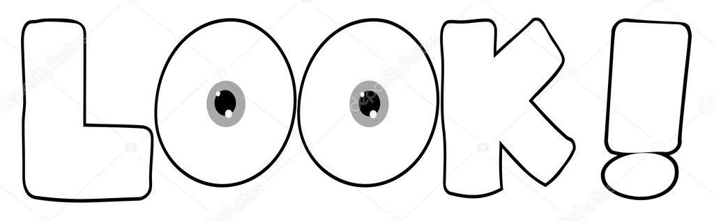 Outline Cartoon Text Look Stock Photo HitToon 4727695
