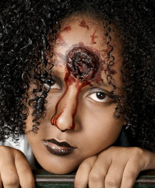 Gory looking woman