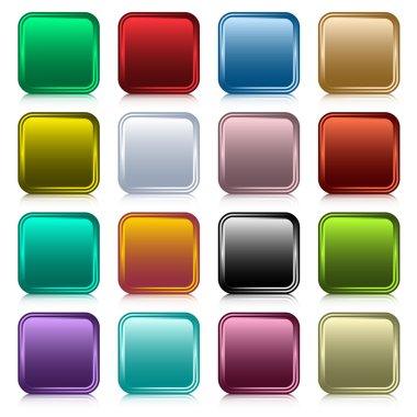 Web buttons square set