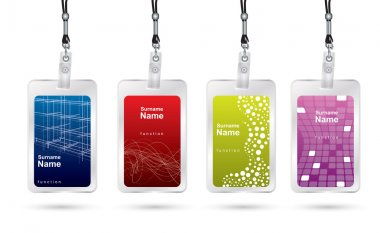 Name tag set in editable vector format stock vector