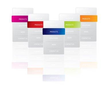 Vertical web menu variations