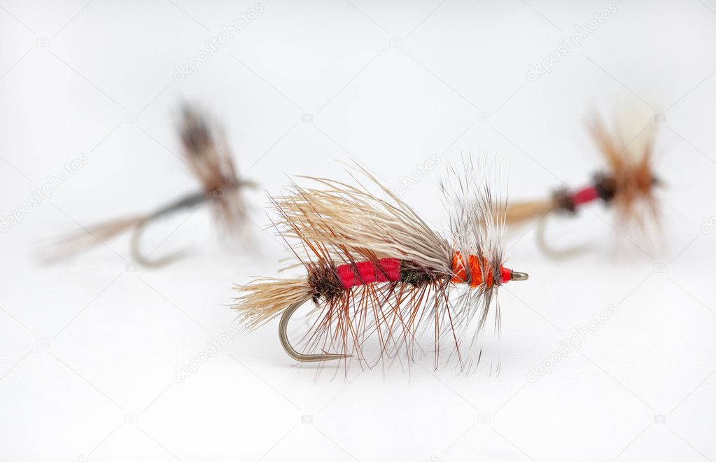 Popular dry flies for trout