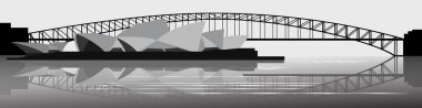 Vector banner sydney harbor bridge