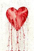 zlomené srdce - krvácející srdce