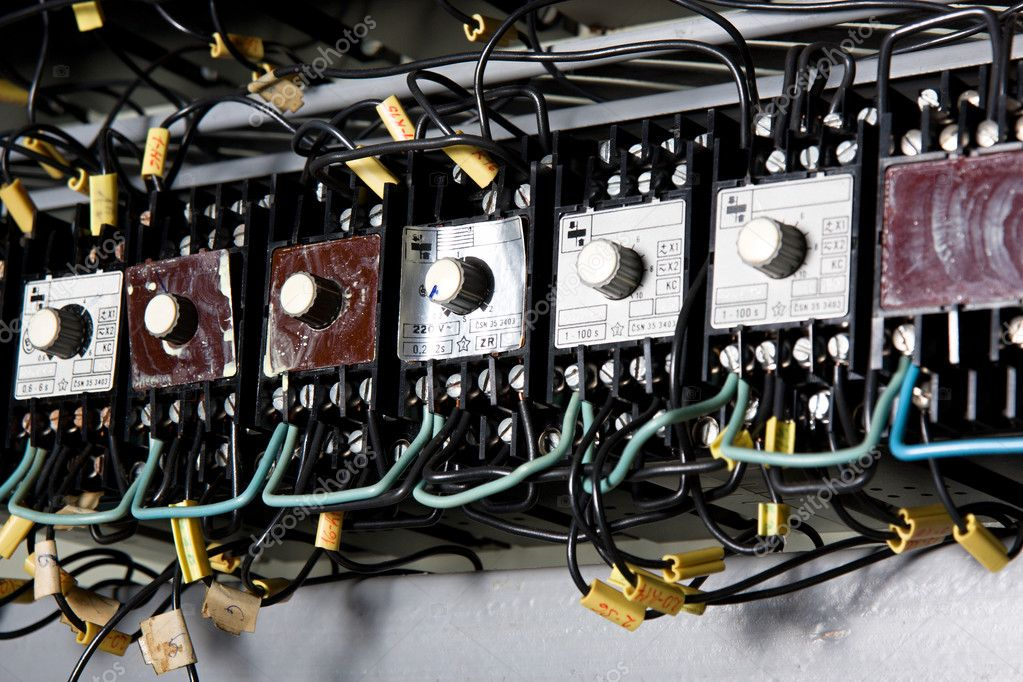 Old electrical panel — Stock Photo © xtrekx #4745543
