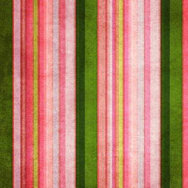 Vintage green and pink shabby colored striped background