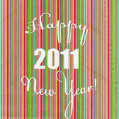 frohes neues Jahr vor gestreiftem Hintergrund