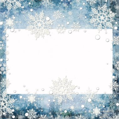 Abstract winter background with snowflakes and place for text