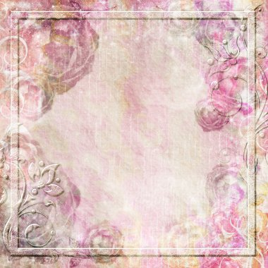 Romantic vintage background set