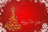 červená vánoční přání