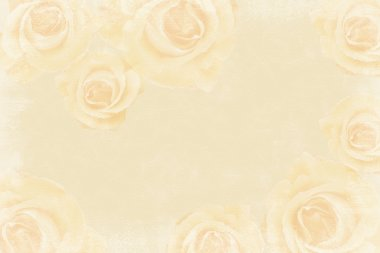 Grunge beige background with roses