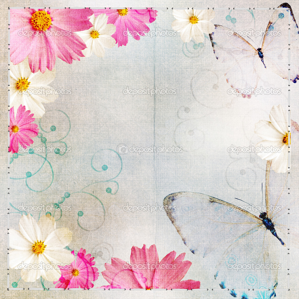 Album cover in Floral design and butterflies