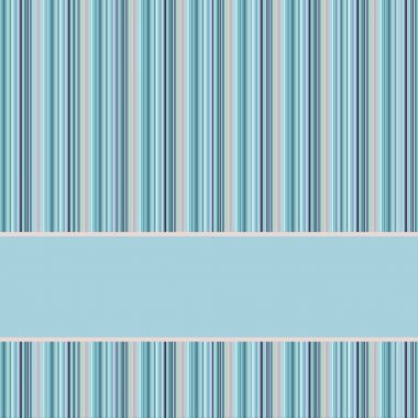 Blue and grey striped background with banner, variable with st