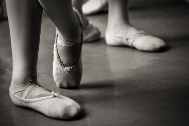 Legs in ballet slippers