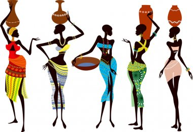 Beautiful and fragile african women