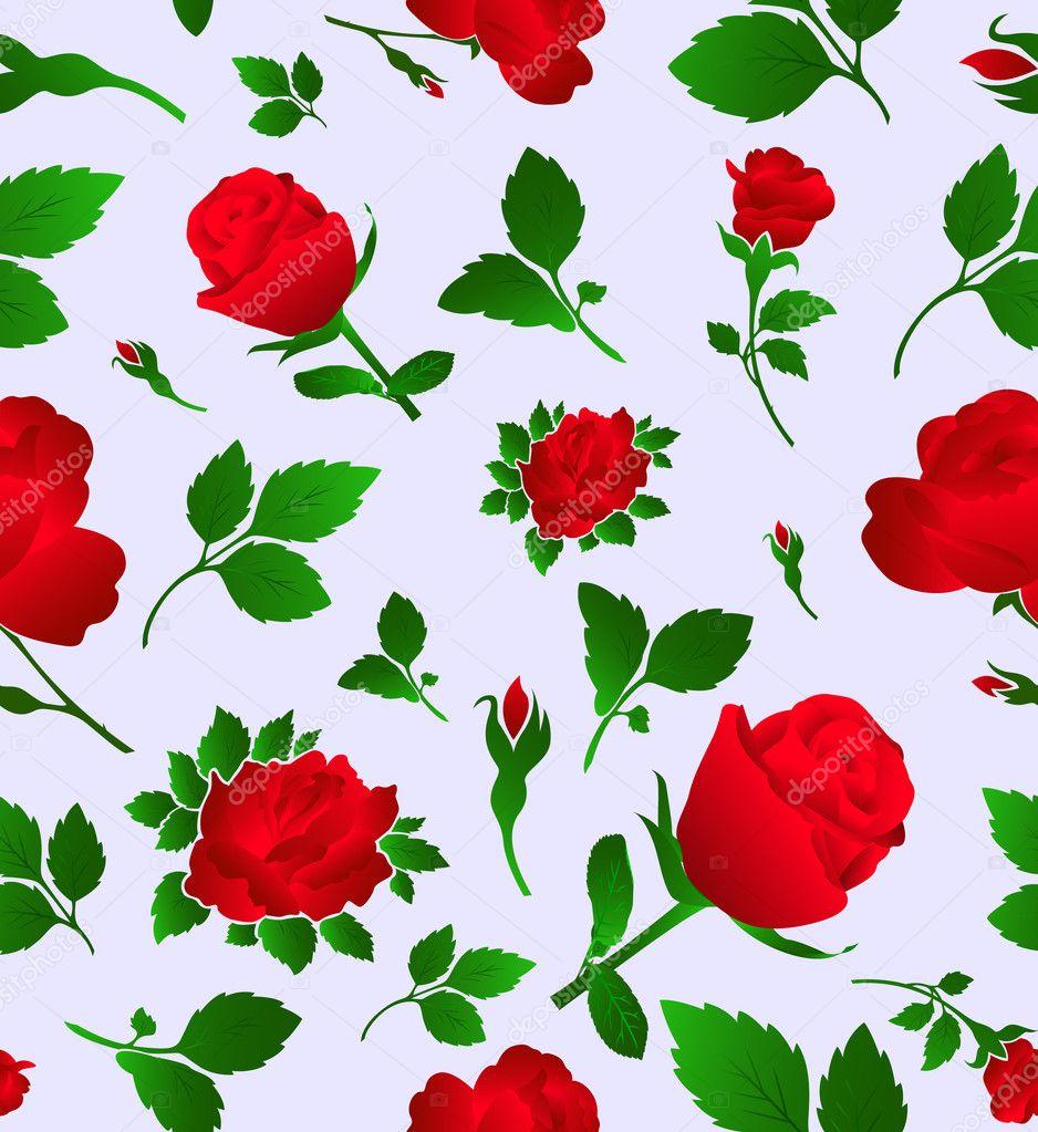 Elegant floral seamless pattern with rose, wallpaper