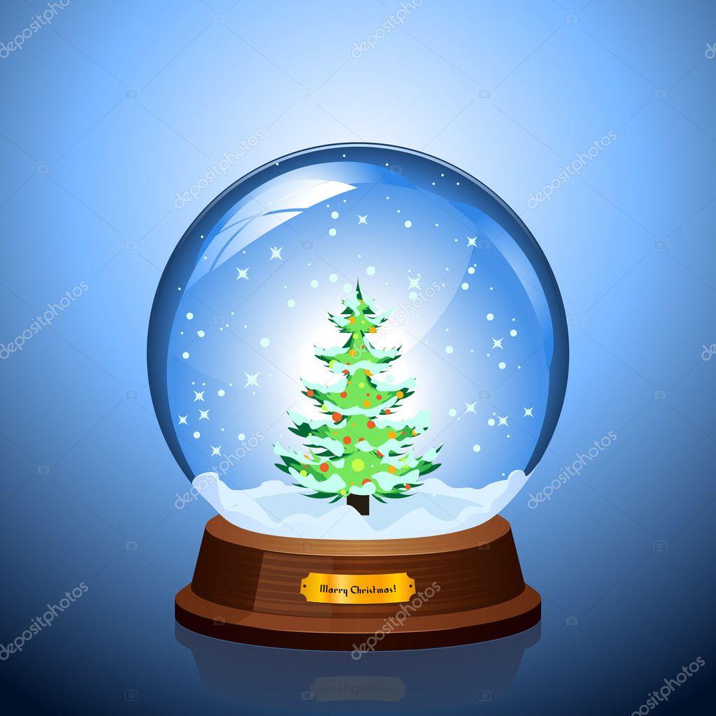 Bola de nieve de navidad vector de stock jelome 4956419 - Bola nieve navidad ...