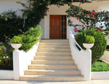 Elegant Front Door of Home.