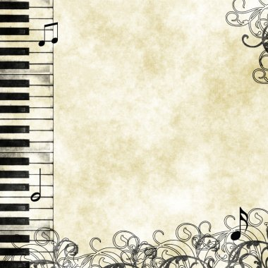 Grunge floral musical background
