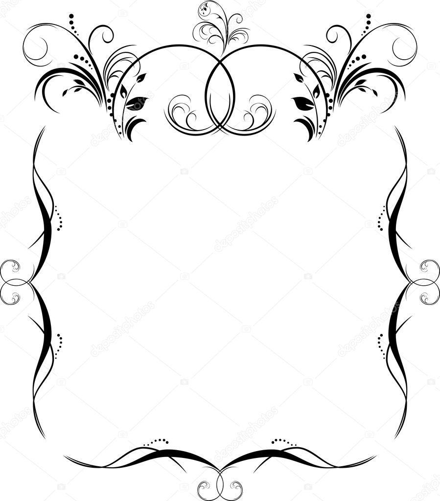 Красивые рамки для поздравления с днем рождения черно-белые
