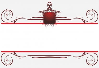 Decorative borders for card. Title