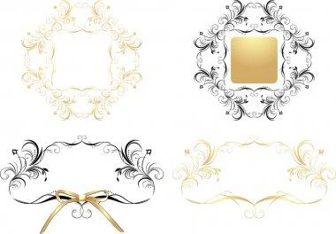 Four patterns for decorative frames
