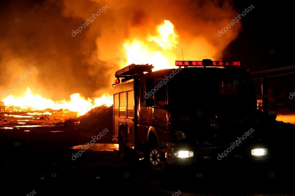 Firetruck and Fire