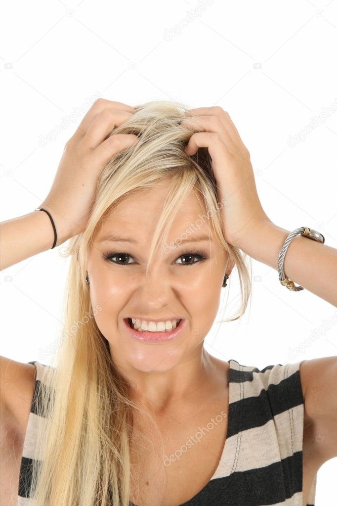 Frustrated and Angry Blonde Woman