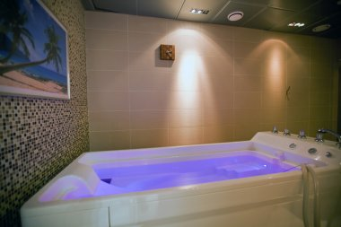 Hydromassage bathtub in cosmetological clinic