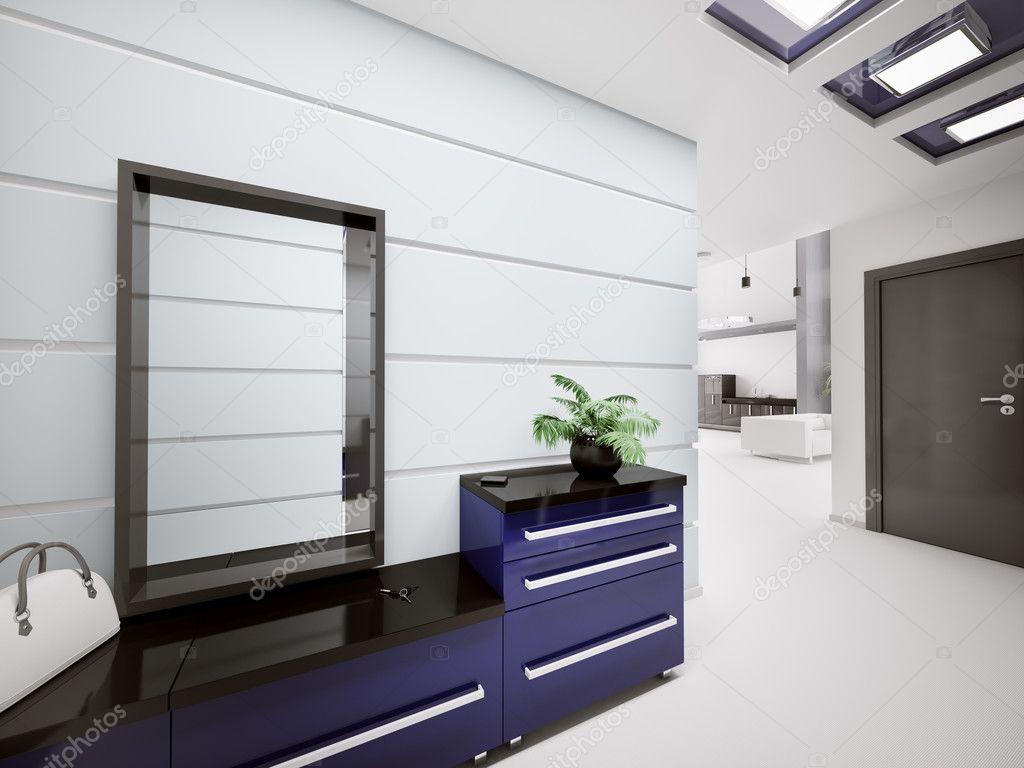 intérieur du hall d\'entrée moderne 3d — Photographie scovad © #3947824