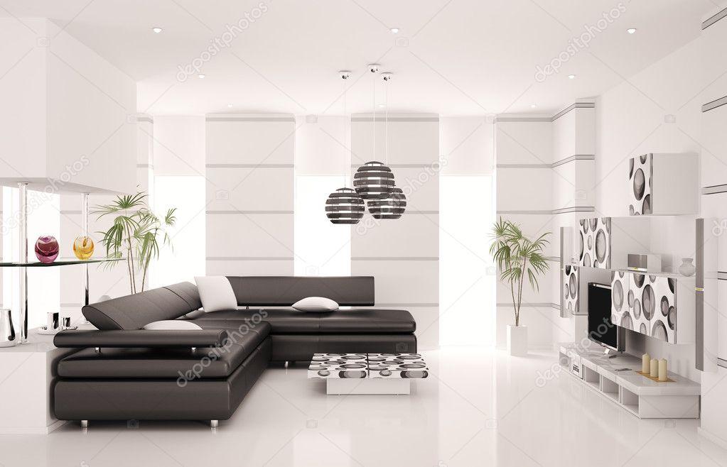 Moderne woonkamer interieur 3d render stockfoto scovad 4604031 for Moderne woonkamer